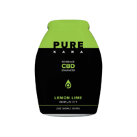 PureKana Lemon Lime for Immunity CBD Beverage Enhancer 2oz (60ml) 120mg CBD | PureKana