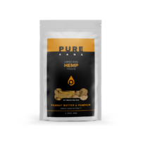 PureKana Peanut Butter & Pumpkin Hemp Dog Treats - 50mg