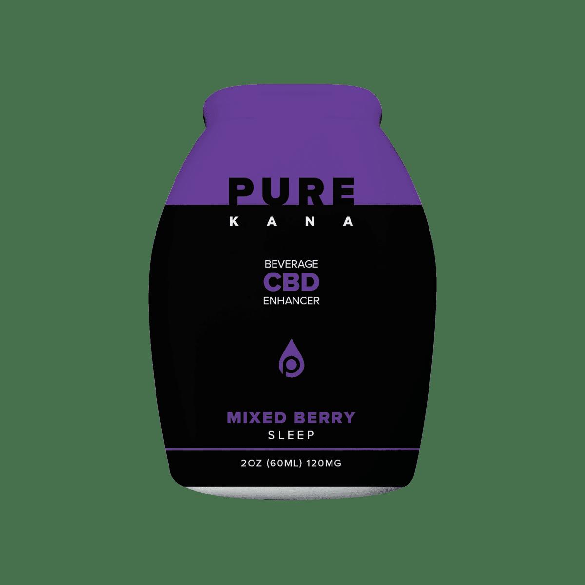 PureKana Mixed Berry for Sleep CBD Beverage Enhancer 2oz (60ml) 120mg CBD | PureKana