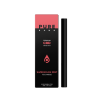 PureKana Watermelon Mint CBD Vape Pen (Recharge) - 231mg (1.85mg CBD per serving)