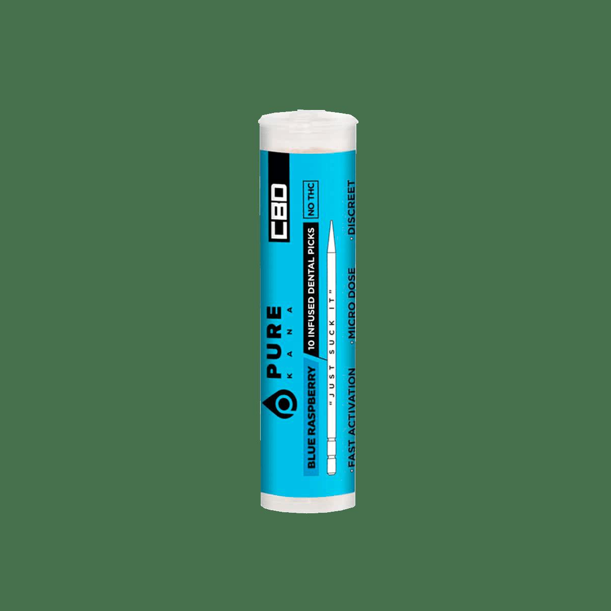 PureKana Blue Raspberry CBD Pure Picks - 250mg (25mg CBD per pick)