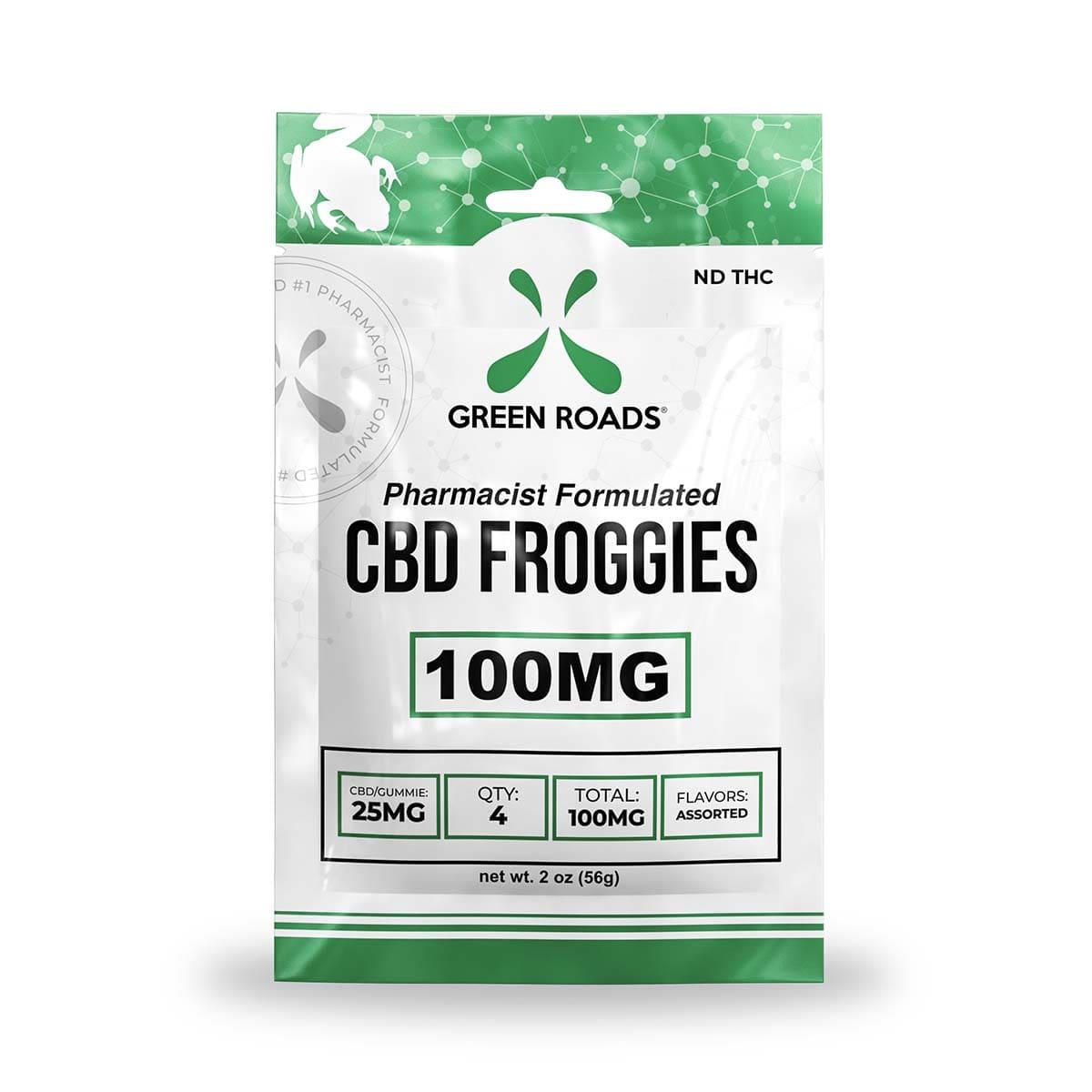 Green Roads CBD Froggies - 100mg (25mg CBD per froggie) - 2oz