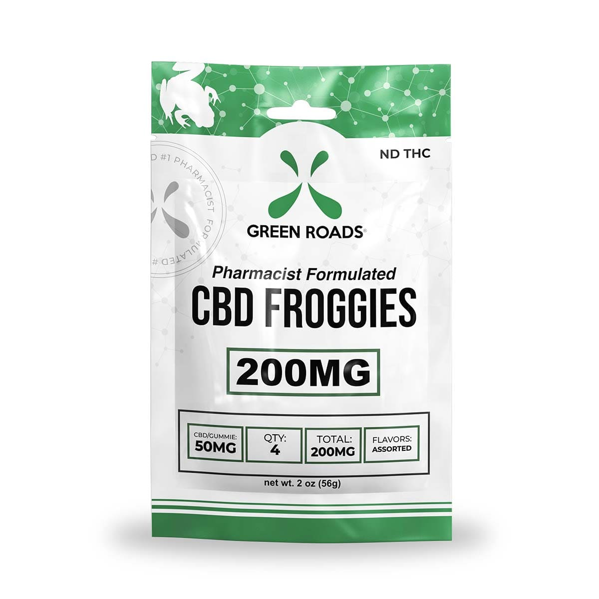 Green Roads CBD Froggies - 200mg (50mg CBD per froggy) - 2oz