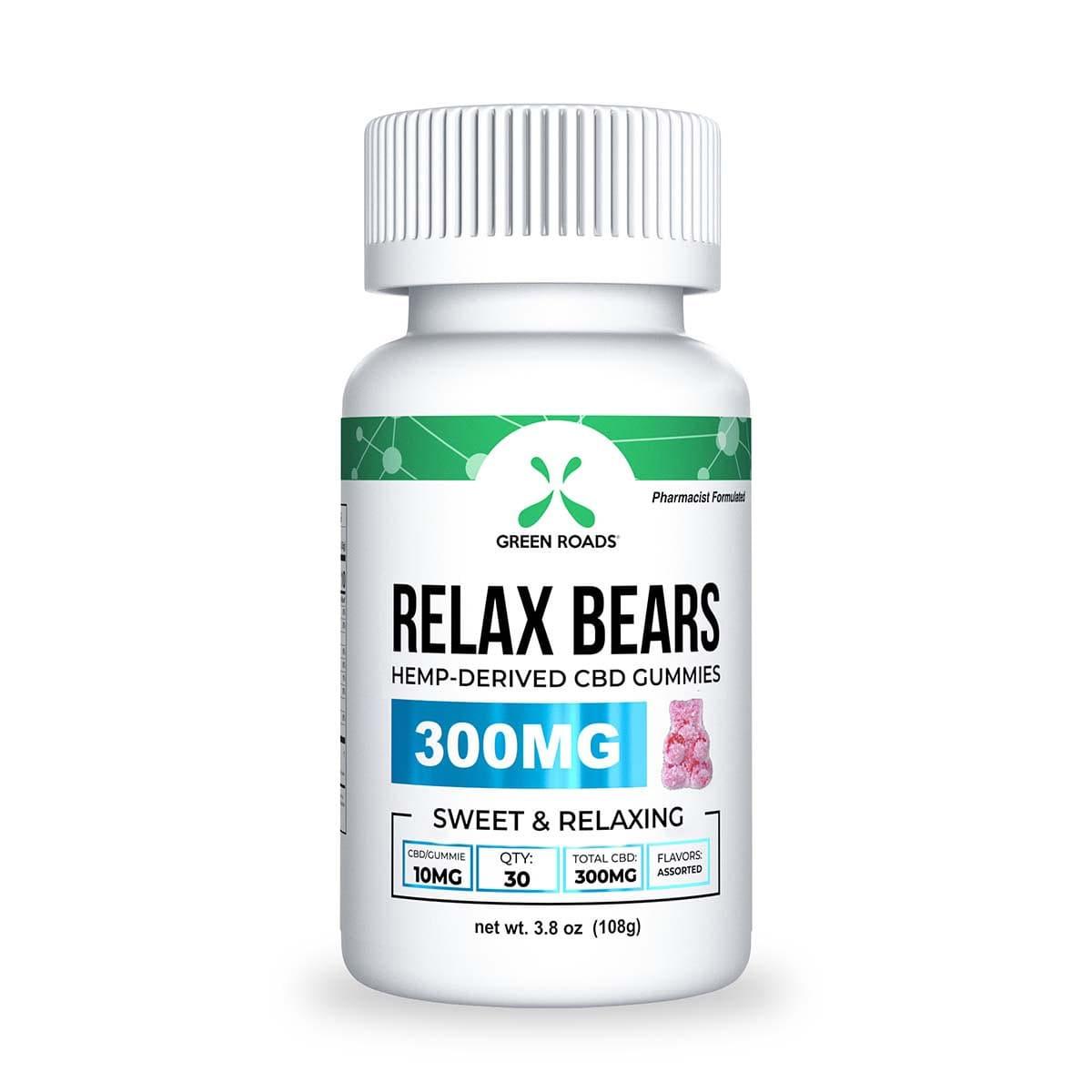 Green Roads CBD Gummy Bears - 300mg (10mg CBD per gummy) - 3,8oz