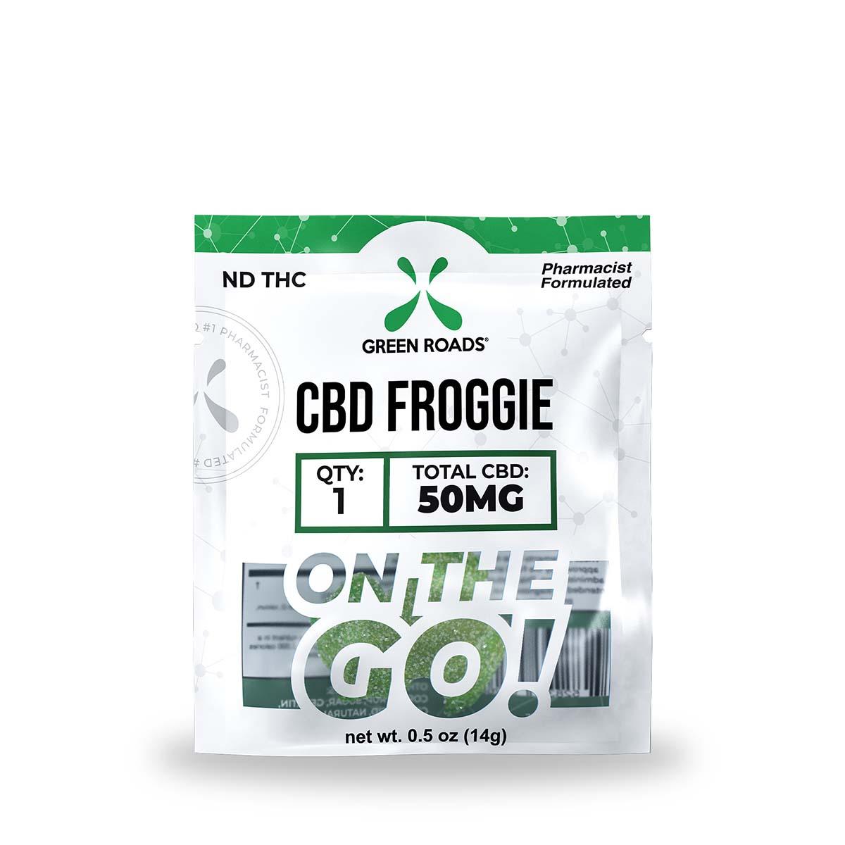 Green Roads CBD Froggie - 50mg (50mg CBD per froggie) - 0,5oz