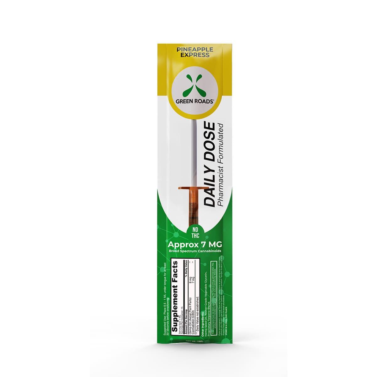 Green Roads Pineapple Express CBD Daily Dose - 7mg CBD (7mg CBD per dose) - 1ml